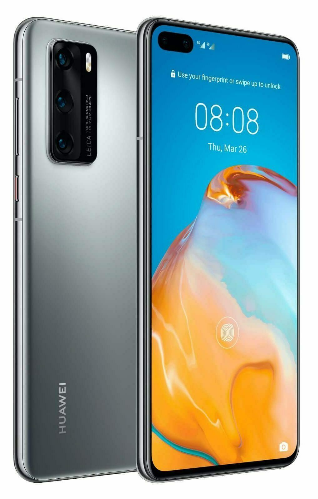 Huawei P40 Pro 256 + 8GB RAM Unlocked Silver Frost Excellent Condition warranty