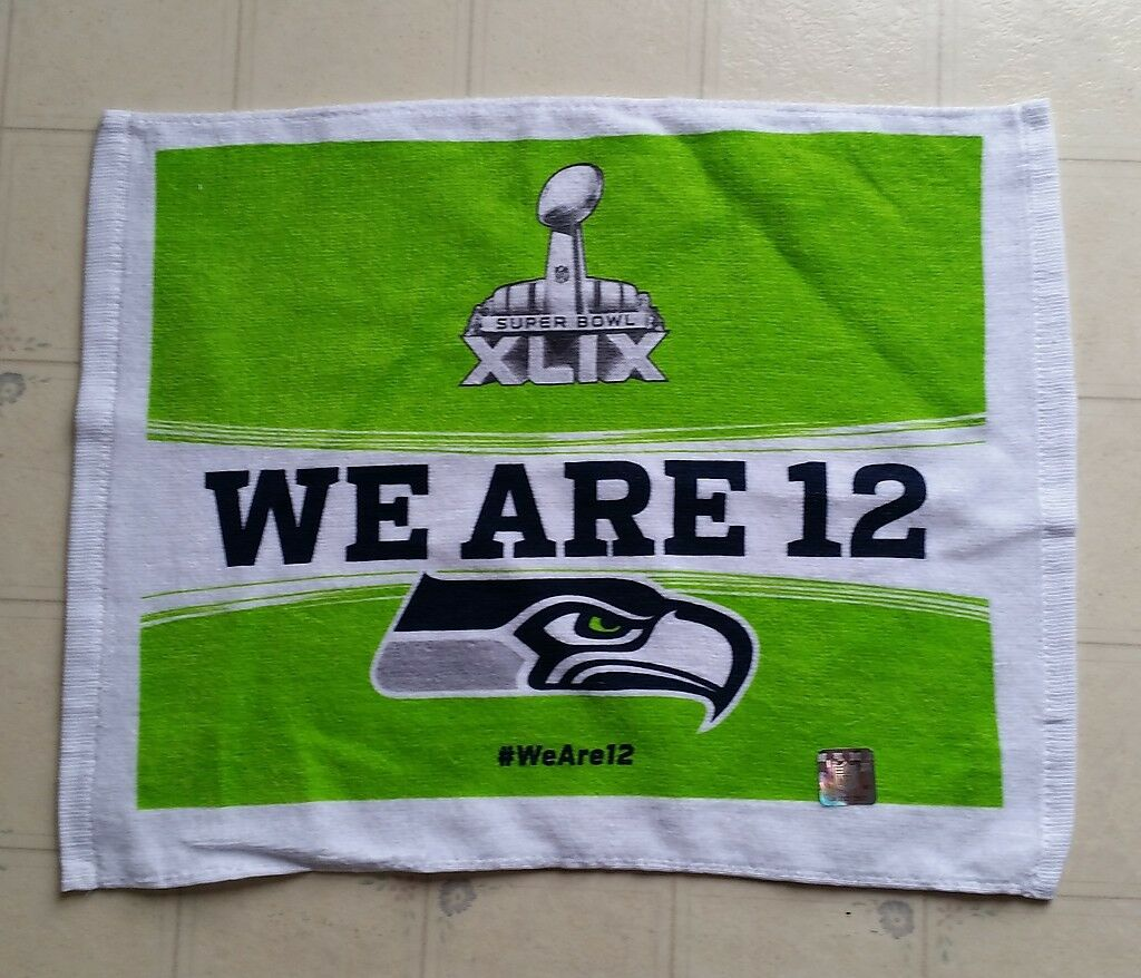 2015 Super Bowl XLIX 49 Rally Towel - Seattle Seahawks - WE ARE 12