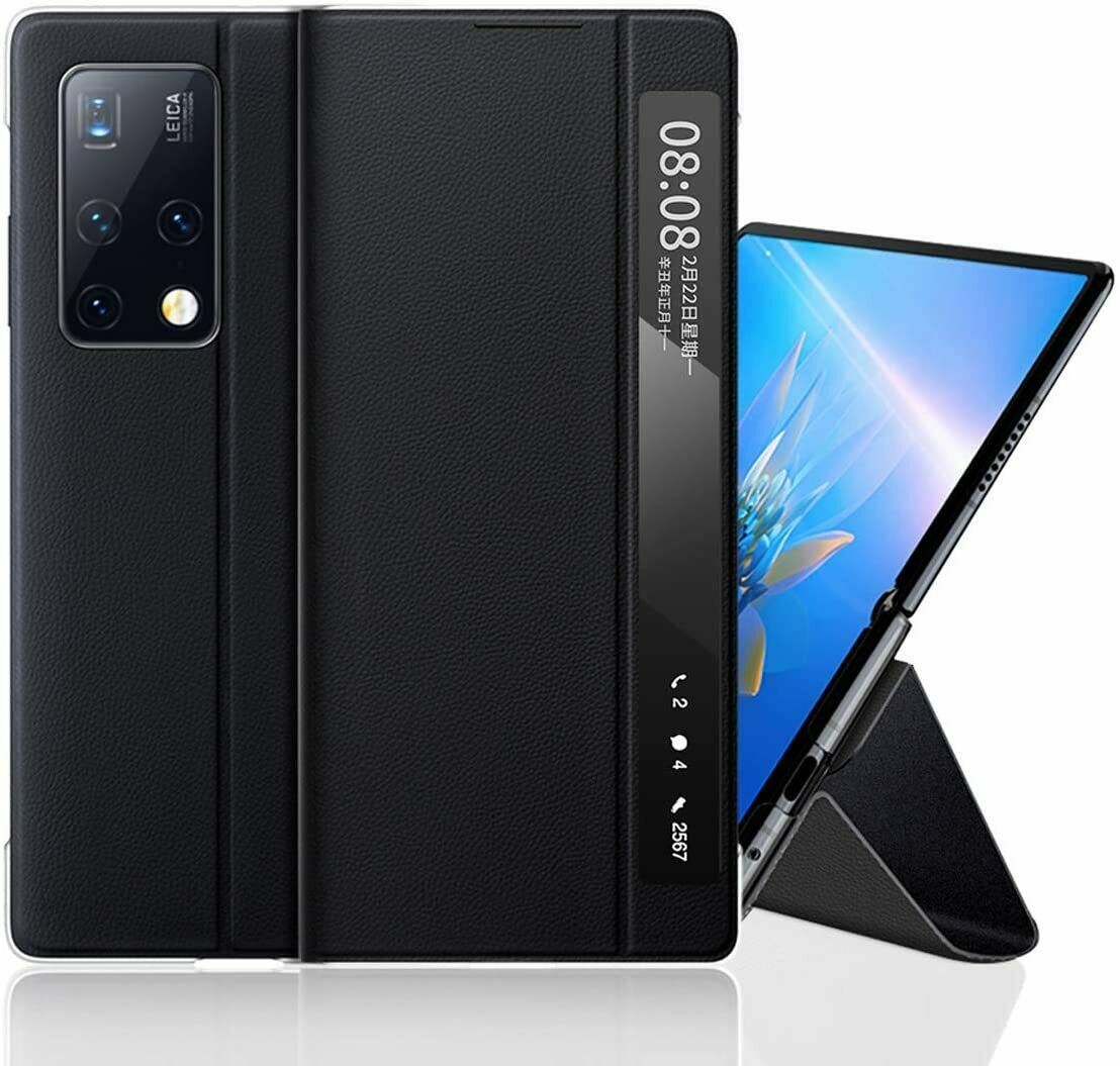 Compatible with Huawei Mate X2 Case Genuine Leather Flip Case for Huawei Mate X2