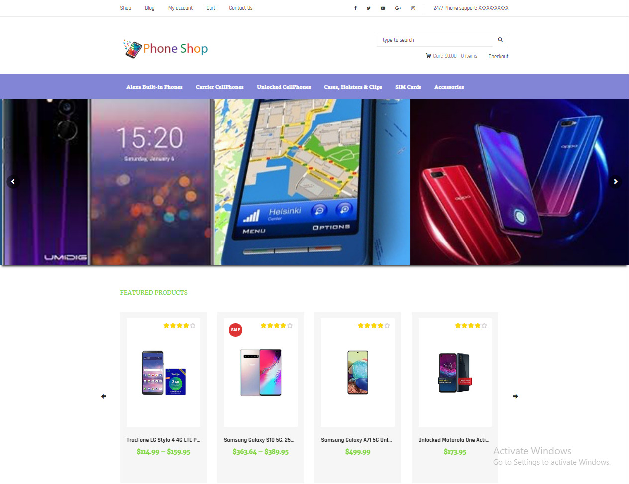 Drop shipping / Affiliate Phone Store Ecommerce Website For Sale + Free Hosting