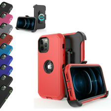 For iPhone 12 Pro Max/ Pro/ Mini Heavy Duty Holster Rugged Hybrid Cover Case