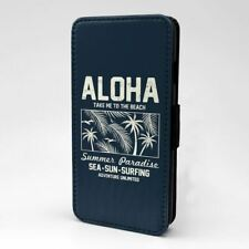 For Mobile Phone Flip Case Cover Aloha Hawaii Vintage Sign - S22