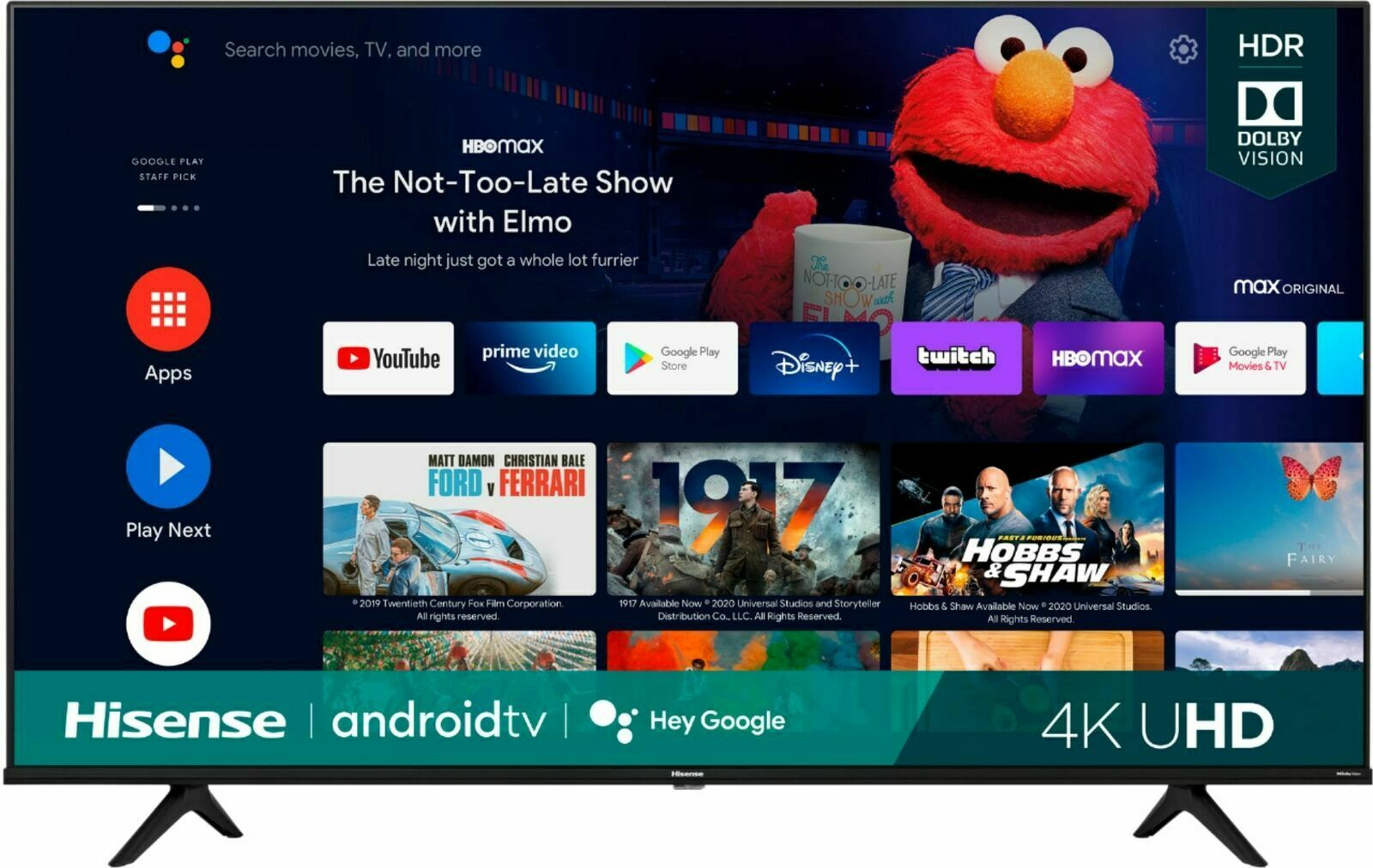 """Hisense 50"""" A6G Series 4K UHD Dolby Vision HDR Android Smart TV (2021 Model)"""