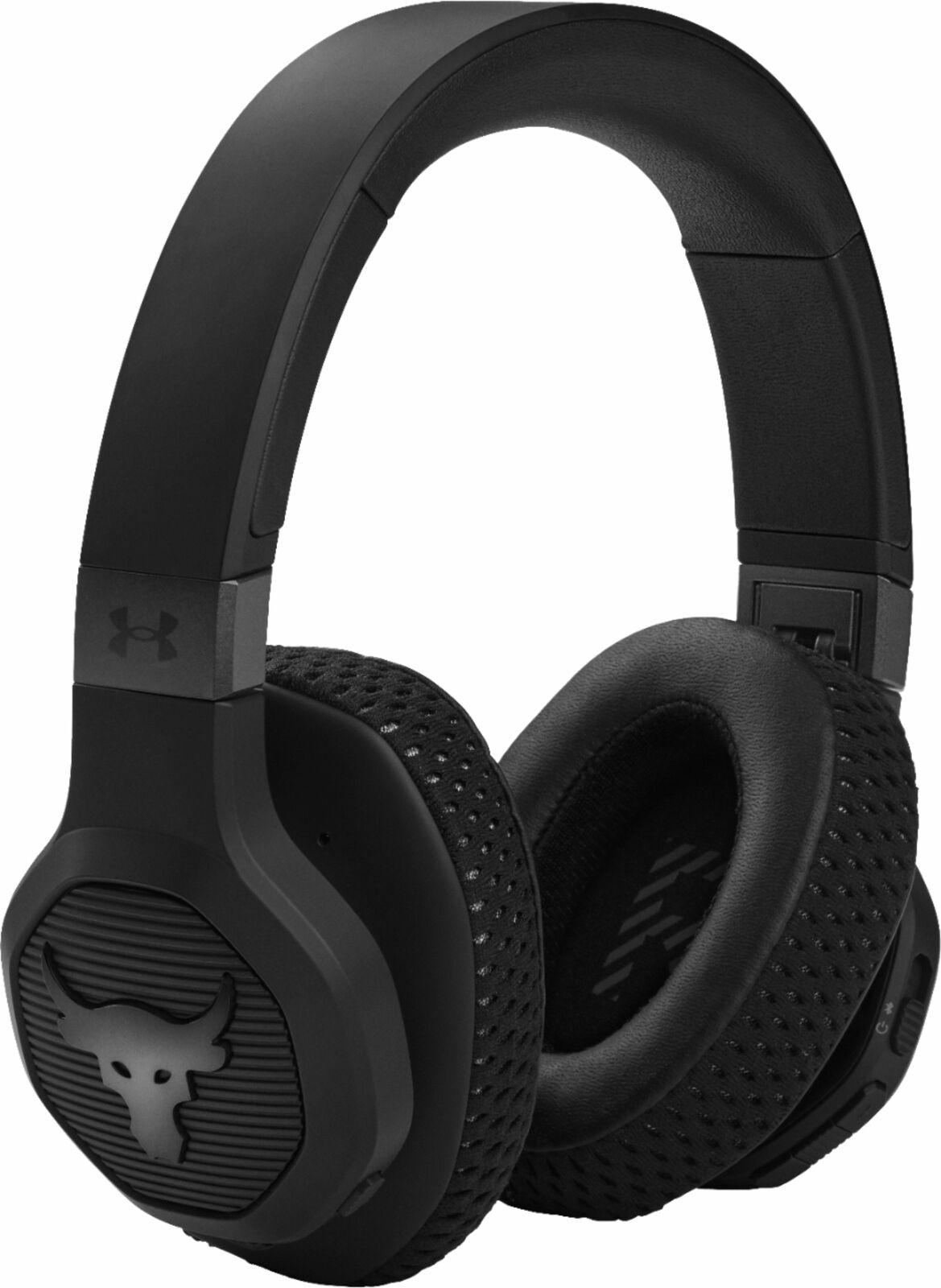 JBL - Under Armour Project Rock Wireless Over-the-Ear Headphones - Black