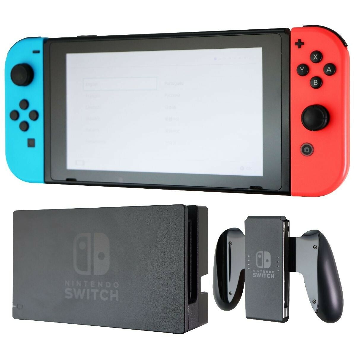 Nintendo Switch Game Console Bundle with Joy-Cons (Updated HAC-001(-01) Model)