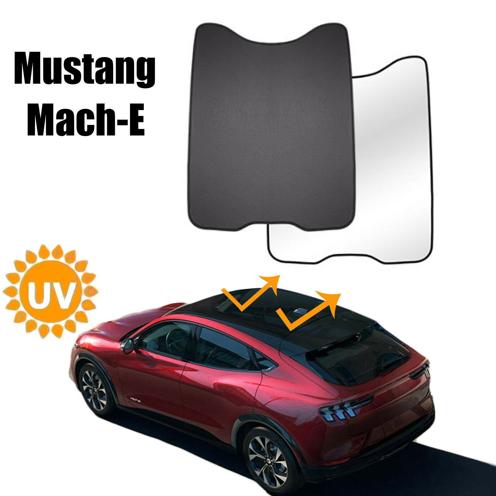 Sunroof Sunshade for Ford Mustang Mach-E Accessories 2021 2022 Window Sun Shade