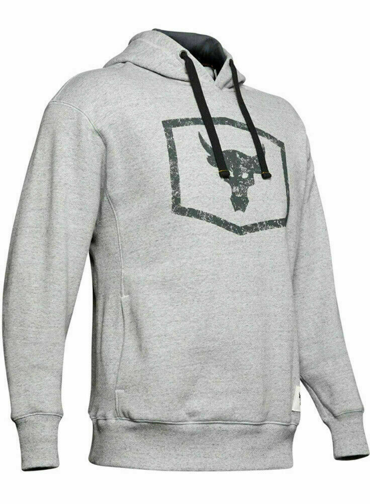 Under Armour Project Rock Warm-Up Pull Over Hoodie Sweatshirt Respect 2XL XXL